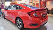 Honda Civic sedan rear three quarters at Nepal Auto Show 2017