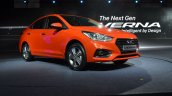 Hyundai Verna 2017 front three quarters flame orange