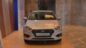 Hyundai Verna 2017 sleek silver front view