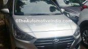 Hyundai Verna 2017 spied at dealer yard front