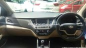 Hyundai Verna 2017 spied at dealer yard interior dashboard