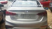 Hyundai Verna 2017 spied at dealer yard rear view