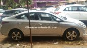 Hyundai Verna 2017 spied at dealer yard side view