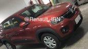 Iranian-spec Renault Kwid front three quarters spy shot