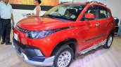 Mahindra KUV100 Explorer Edition front three quarters at Nepal Auto Show 2017