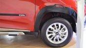 Mahindra KUV100 Explorer Edition wheel and wheel arch at Nepal Auto Show 2017
