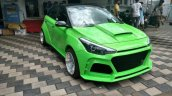 Modified Hyundai i20 by Custom Designz front three quarters