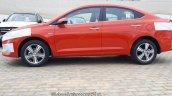New Hyundai Verna 2017 Fiery Red colour side
