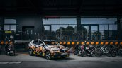 Production BMW X2 in urban livery front quarter