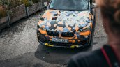 Production BMW X2 in urban livery grille