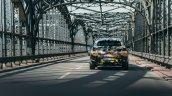 Production BMW X2 in urban livery rear