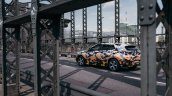 Production BMW X2 in urban livery side