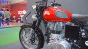 Royal Enfield Classic 350 Redditch Red engine and gearbox at the Nepal Auto Show 2017