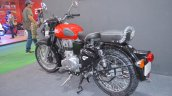 Royal Enfield Classic 350 Redditch Red rear three quarters at the Nepal Auto Show 2017