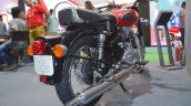 Royal Enfield Classic 350 Redditch Red rear three quarters right at the Nepal Auto Show 2017