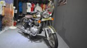 Royal Enfield Classic 500 Chrome front three quarters at the Nepal Auto Show 2017