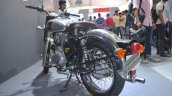 Royal Enfield Classic 500 Chrome rear three quarters at the Nepal Auto Show 2017