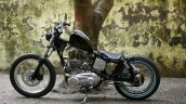 Royal Enfield Thunderbird 350 Lynx by Lazybone Motorcycles left side closeup