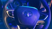 Tata Nexon at Ganpati Pandal Mumbai steering wheel