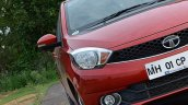 Tata Tiago AMT test drive review headlamp