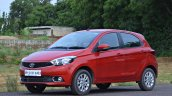 Tata Tiago AMT test drive review left front three quarters