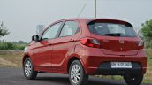Tata Tiago AMT test drive review left rear three quarters