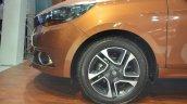 Tata Tigor dual spoke alloy wheel at Nepal Auto Show 2017