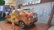 Tata Tigor rear three quarters at Nepal Auto Show 2017