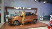 Tata Tigor side at Nepal Auto Show 2017