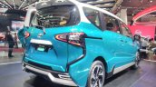 Toyota Sienta Ezzy GIIAS 2017 Live Images right rear three quarters