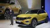 VW T-Roc front three quarters world premiere