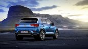 VW T-Roc rear three quarters