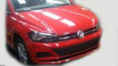 VW Virtus front fascia undisguised spy shot