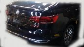 VW Virtus rear fascia second undisguised spy shot