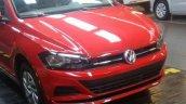 VW Virtus red front fascia spy shot Brazil