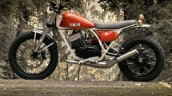 Yamaha RD350 scrambler by Motoexotica India left side