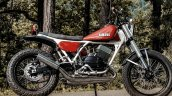 Yamaha RD350 scrambler by Motoexotica India right side