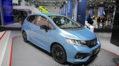 2017 Honda Jazz (facelift) front three quarters left at the IAA 2017