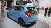 2017 Honda Jazz (facelift) rear three quarters at the IAA 2017