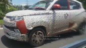 2017 Mahindra KUV100 (facelift) front three quarters in motion spy shot