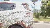 2017 Mahindra KUV100 (facelift) rear quarter panel spy shot