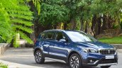 2017 Maruti S-Cross facelift front three quarters Nexa Blue