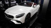 2017 Mercedes-AMG S 63 Cabriolet (facelift) front three quarters left side at the IAA 2017