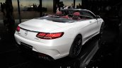 2017 Mercedes-AMG S 63 Cabriolet (facelift) rear three quarters at the IAA 2017