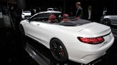2017 Mercedes-AMG S 63 Cabriolet (facelift) rear three quarters left side at the IAA 2017
