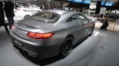 2017 Mercedes-AMG S 63 Coupe (facelift) rear three quarters right side at the IAA 2017