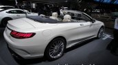2017 Mercedes-AMG S 65 Cabriolet (facelift) rear three quarters right side at the IAA 2017