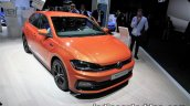 2017 VW Polo TGI R-Line front three quarters at the IAA 2017