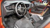 2017 VW Polo TGI R-Line interior dashboard at the IAA 2017