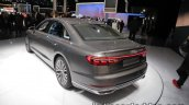 2018 Audi A8 rear three quarters left side at the IAA 2017